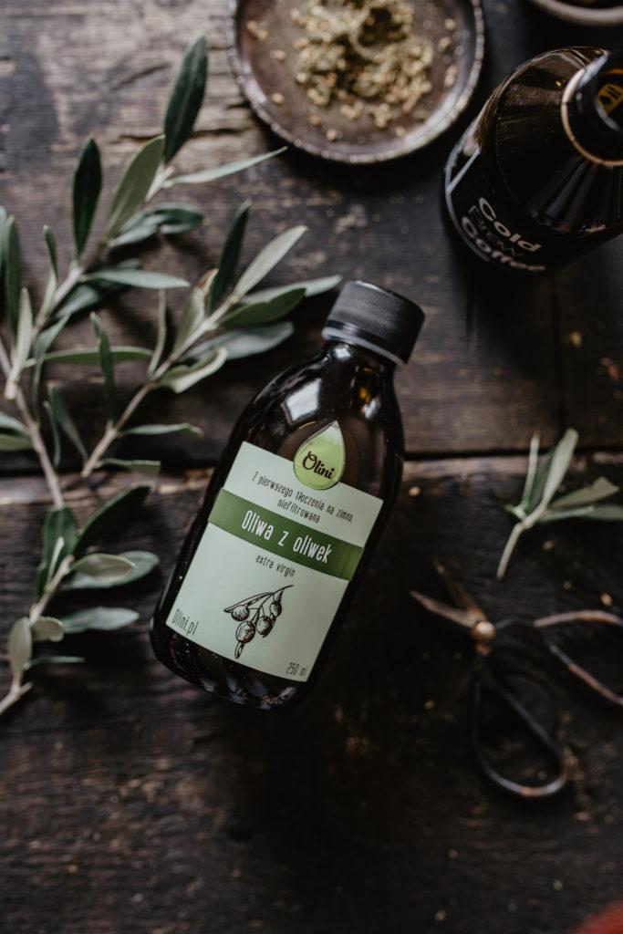 Zimno tłoczona oliwa Olini do smażenia i potraw na zimno