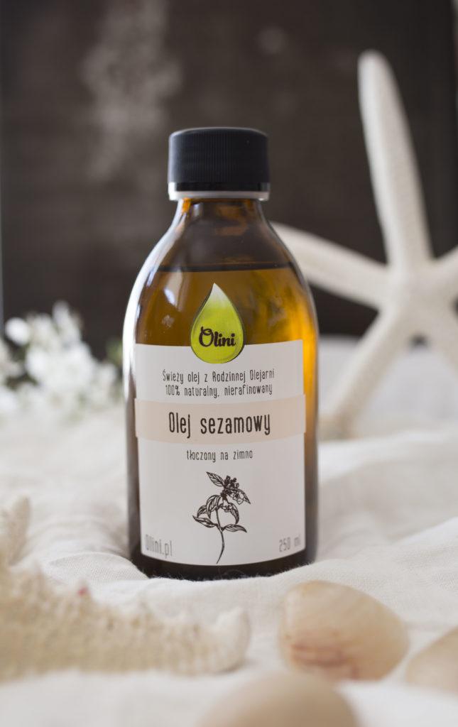 Olej sezamowy w kuchni z Olini