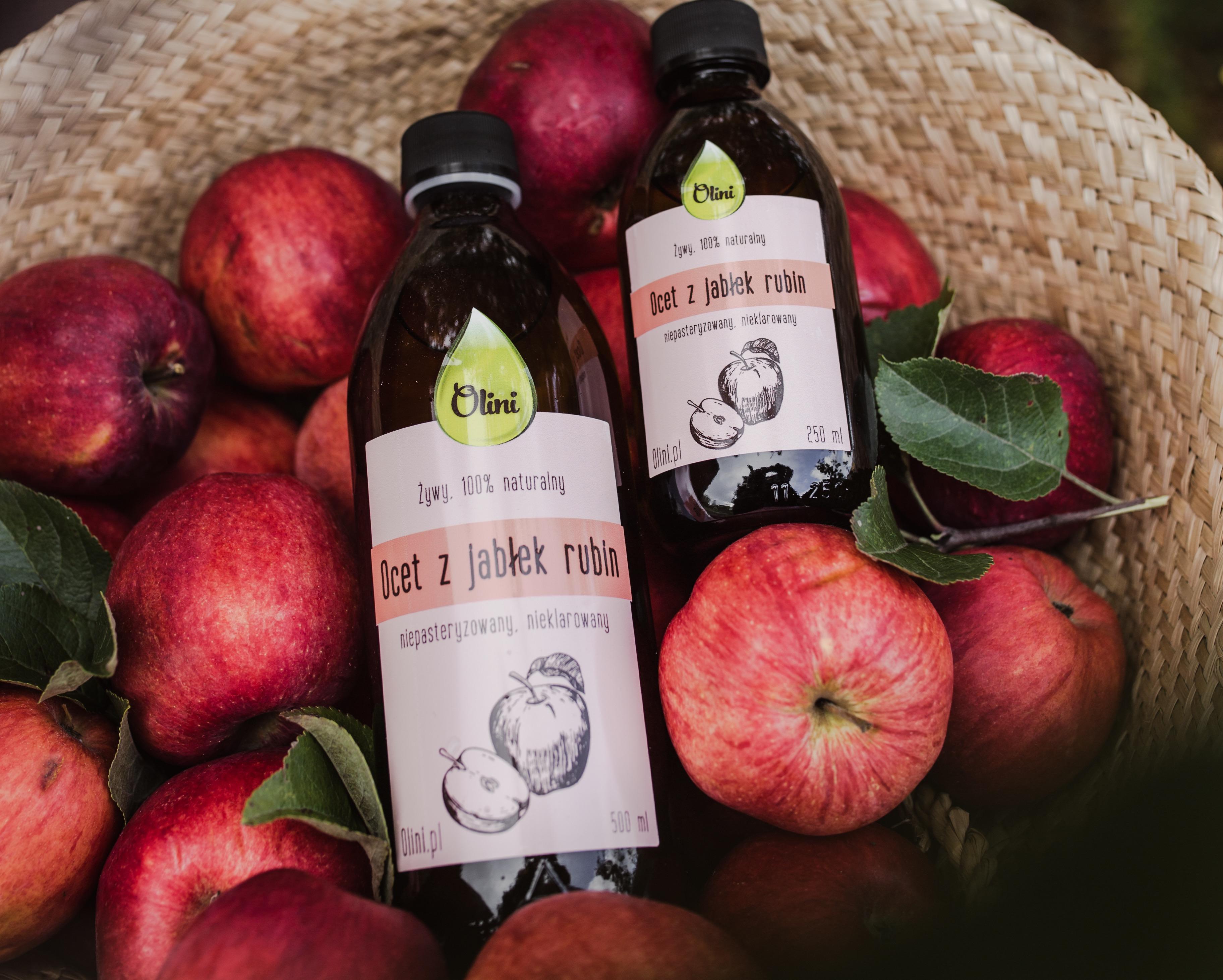 Ocet z jabłek i jabłek Rubin