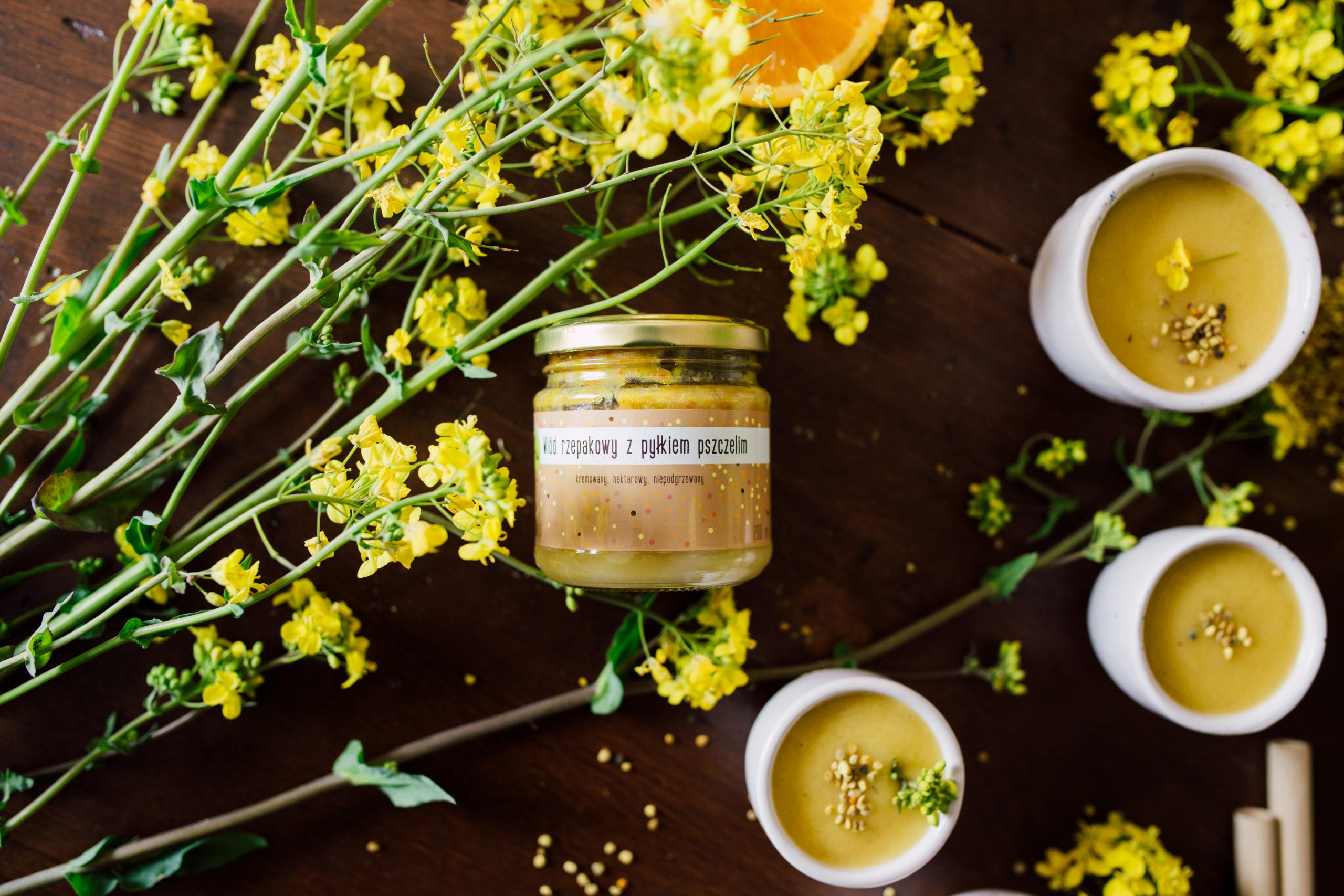Miód z pylkim pszczelim Olini